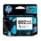 HP Small Tri-Color Ink Cartridge 802 [CH562ZZ] - Tinta Printer Hp